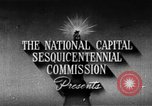 Image of early planning of streets and monuments Washington DC USA, 1950, second 5 stock footage video 65675073215