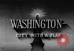 Image of early planning of streets and monuments Washington DC USA, 1950, second 9 stock footage video 65675073215
