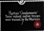 Image of Haitian Gendarmerie Haiti West Indies, 1924, second 2 stock footage video 65675073266