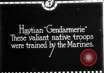Image of Haitian Gendarmerie Haiti West Indies, 1924, second 3 stock footage video 65675073266
