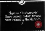 Image of Haitian Gendarmerie Haiti West Indies, 1924, second 5 stock footage video 65675073266