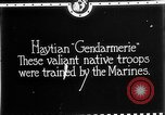 Image of Haitian Gendarmerie Haiti West Indies, 1924, second 6 stock footage video 65675073266
