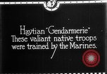 Image of Haitian Gendarmerie Haiti West Indies, 1924, second 7 stock footage video 65675073266