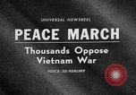Image of Anti Vietnam War march New York City USA, 1967, second 3 stock footage video 65675073293