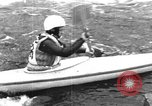 Image of canoe racing Lebanon New Hampshire USA, 1967, second 4 stock footage video 65675073300