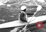 Image of canoe racing Lebanon New Hampshire USA, 1967, second 5 stock footage video 65675073300