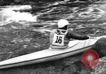 Image of canoe racing Lebanon New Hampshire USA, 1967, second 6 stock footage video 65675073300