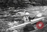 Image of canoe racing Lebanon New Hampshire USA, 1967, second 7 stock footage video 65675073300