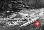 Image of canoe racing Lebanon New Hampshire USA, 1967, second 8 stock footage video 65675073300