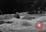 Image of canoe racing Lebanon New Hampshire USA, 1967, second 11 stock footage video 65675073300