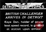 Image of Speedboat racing Detroit Michigan USA, 1931, second 6 stock footage video 65675073335