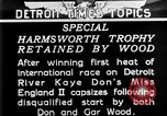Image of speedboat racing Detroit Michigan USA, 1931, second 5 stock footage video 65675073336