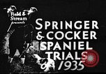 Image of Cocker Spaniels Verbank New York USA, 1935, second 1 stock footage video 65675073362
