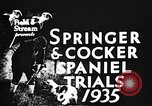 Image of Cocker Spaniels Verbank New York USA, 1935, second 3 stock footage video 65675073362