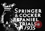 Image of Cocker Spaniels Verbank New York USA, 1935, second 7 stock footage video 65675073362