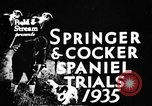 Image of Cocker Spaniels Verbank New York USA, 1935, second 10 stock footage video 65675073362