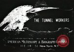 Image of tunnel workers New York United States USA, 1905, second 1 stock footage video 65675073369