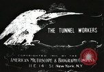 Image of tunnel workers New York United States USA, 1905, second 4 stock footage video 65675073369