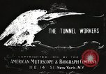 Image of tunnel workers New York United States USA, 1905, second 6 stock footage video 65675073369