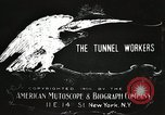 Image of tunnel workers New York United States USA, 1905, second 9 stock footage video 65675073369