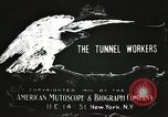 Image of tunnel workers New York United States USA, 1905, second 10 stock footage video 65675073369
