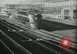 Image of passenger railroad train operations and personnel United States USA, 1948, second 4 stock footage video 65675073411