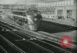 Image of passenger railroad train operations and personnel United States USA, 1948, second 8 stock footage video 65675073411