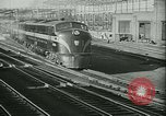 Image of passenger railroad train operations and personnel United States USA, 1948, second 9 stock footage video 65675073411