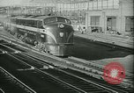 Image of passenger railroad train operations and personnel United States USA, 1948, second 10 stock footage video 65675073411