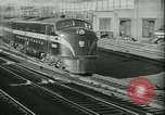 Image of 1940s passenger railroad train operations and personnel United States USA, 1948, second 12 stock footage video 65675073411