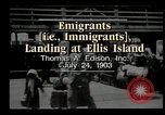 Image of immigrants Ellis Island New York USA, 1903, second 1 stock footage video 65675073416