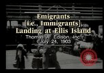 Image of immigrants Ellis Island New York USA, 1903, second 2 stock footage video 65675073416