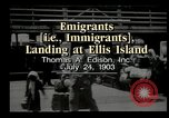 Image of immigrants Ellis Island New York USA, 1903, second 3 stock footage video 65675073416