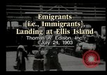 Image of immigrants Ellis Island New York USA, 1903, second 4 stock footage video 65675073416