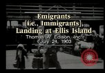 Image of immigrants Ellis Island New York USA, 1903, second 5 stock footage video 65675073416