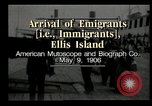 Image of Newly arriving immigrants to America  Ellis Island New York USA, 1906, second 1 stock footage video 65675073417