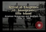 Image of Newly arriving immigrants to America  Ellis Island New York USA, 1906, second 7 stock footage video 65675073417