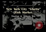 Image of Fulton Fish Market New York United States USA, 1903, second 1 stock footage video 65675073421