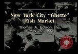 Image of Fulton Fish Market New York United States USA, 1903, second 6 stock footage video 65675073421