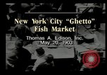 Image of Fulton Fish Market New York United States USA, 1903, second 9 stock footage video 65675073421