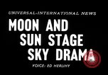 Image of total solar eclipse Minnesota United States USA, 1954, second 4 stock footage video 65675073513