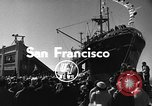 Image of Merchant vessel at San Francisco harbor San Francisco California USA, 1954, second 2 stock footage video 65675073516