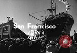 Image of Merchant vessel at San Francisco harbor San Francisco California USA, 1954, second 3 stock footage video 65675073516