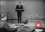 Image of presidential election debate Chicago Illinois USA, 1960, second 9 stock footage video 65675073640