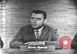 Image of presidential election debate Washington DC USA, 1960, second 12 stock footage video 65675073645