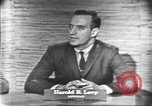 Image of presidential election debate Washington DC USA, 1960, second 5 stock footage video 65675073647