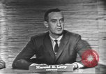 Image of presidential election debate Washington DC USA, 1960, second 10 stock footage video 65675073650