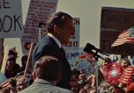 Image of Richard Nixon speaks to automobile workers during energy crisis Saginaw Michigan USA, 1974, second 2 stock footage video 65675073721