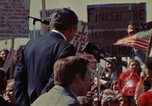 Image of Richard Nixon speaks to automobile workers during energy crisis Saginaw Michigan USA, 1974, second 4 stock footage video 65675073721