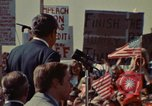 Image of Richard Nixon speaks to automobile workers during energy crisis Saginaw Michigan USA, 1974, second 7 stock footage video 65675073721